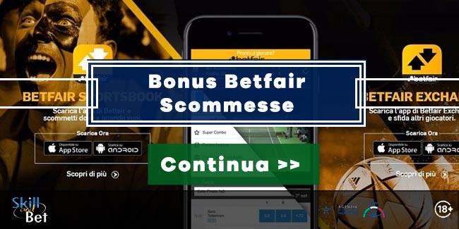 bonus betfair scommesse