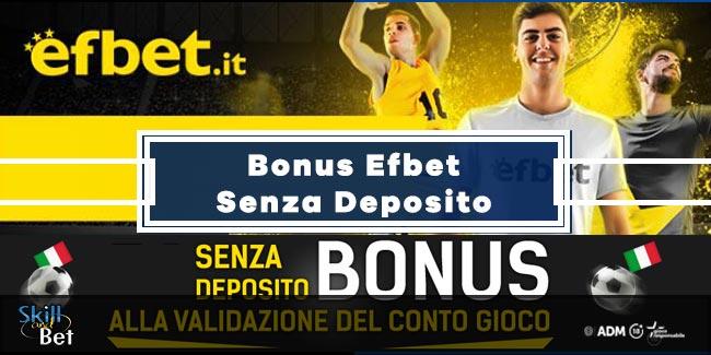 Efbet Bonus Scommesse: 5€ Senza Deposito + 100% Fino a 100€