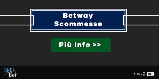 Bonus Scommesse Betway: 50€ Gratis sul Primo Deposito