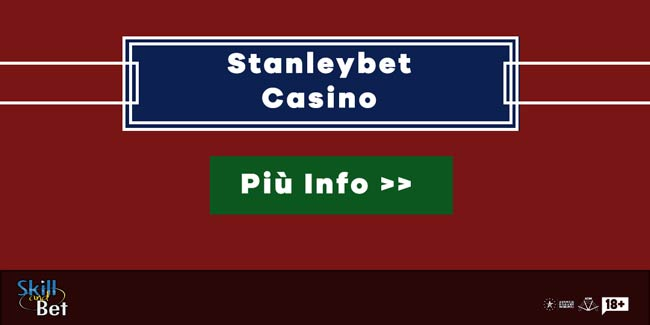 Stanleybet Casino: 20€ Bonus Senza Deposito Per Giocare Gratis Alle Slot