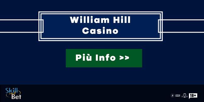 William Hill Casino 100 Free Spins Gratis Senza Deposito