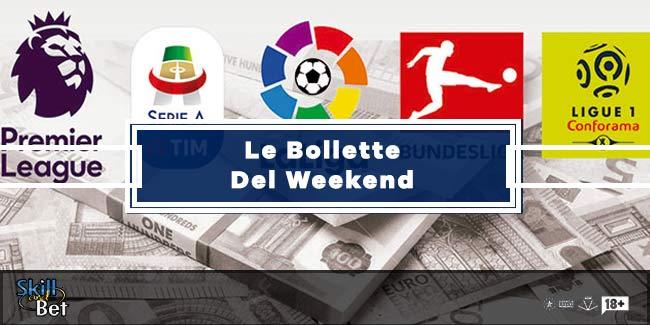 Pronostici Scommesse Calcio del Weekend: Bollette Vincenti e Quote SNAI