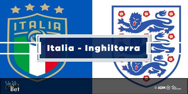 Pronostici Italia-Inghilterra: Vincente, Risultato Esatto & Quote (Finale Euro 2020)