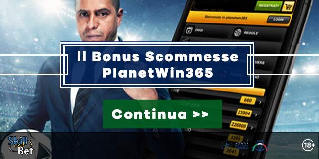 Bonus Scommesse PlanetWin365 da 365€ - 50% Sul Primo Deposito