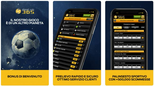 planetwin365 app scommesse