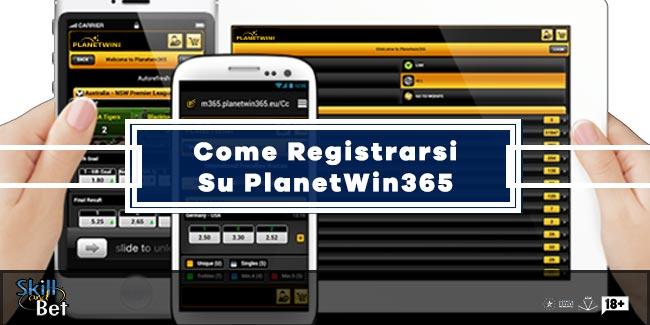 Registrazione Planetwin365: Apertura Conto Gioco e Login/Accedi