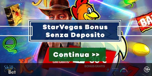 StarVegas 30 Giri Gratis Nelle Slot + 30€ Bonus Senza Deposito
