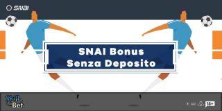 Bonus SNAI Scommesse Senza Deposito: 5€ Gratis + 300€