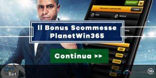 Bonus Scommesse PlanetWin365 da 365€ - 50% Sui Primi Due Depositi